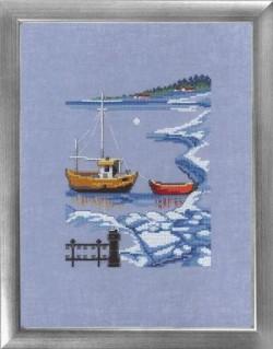 Båd-vinter